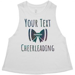 Custom Trendy Black Glitter Cheerleader