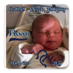 LMM#168 birth announcement magnet
