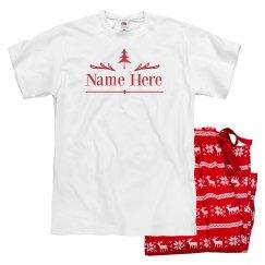 Custom Name Family Holiday Pajamas