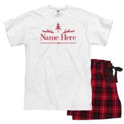 Add Name Christmas Tree Pajamas