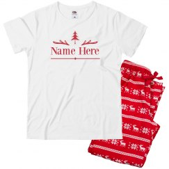 Add Your Name Matching Family Pajamas