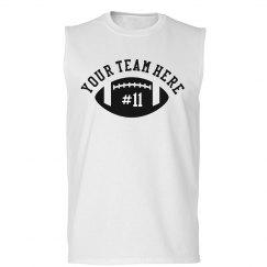 Customized Team Name, Number, Football Sleeveless Tee