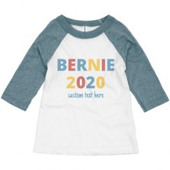 Custom Bernie 2020 Toddler Raglan