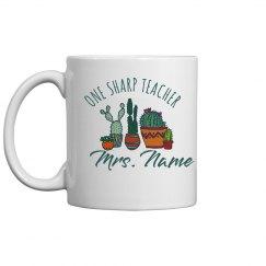 Cute Cacti One Sharp Teacher Custom