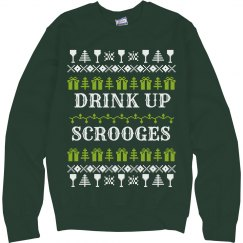 Drink Up Scroges Ugly Sweater
