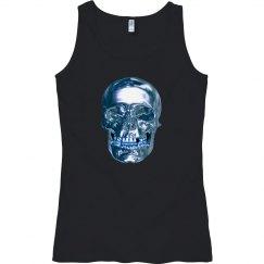 Blue Chrome Skull Tank