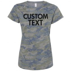 Personalize this Cute Camo Tee