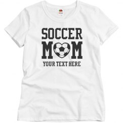Custom Bling Soccer Mom