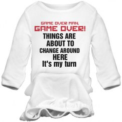 Funny Gamer Infant Gown