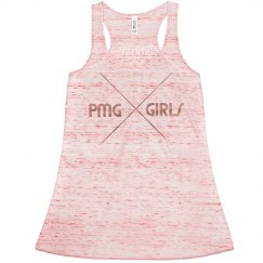 "PMG GIRL ""MARBLE"" METALLIC TANK"
