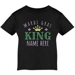 Mardi Gras King Custom Baby Tee