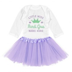 Miss Mardi Gras Custom Name Tutu Outfit