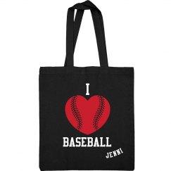 I Love Baseball Sling Bag