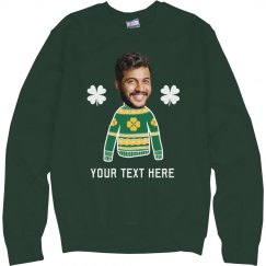 Custom Photo Upload St. Patrick's Day Sweater