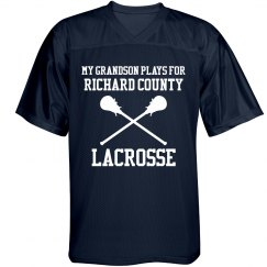 Custom Text Lacrosse Grandpa Fan Jersey