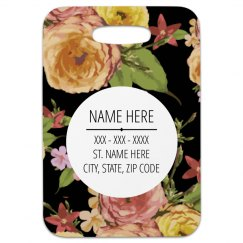 Floral Customizable Tag
