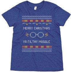Merry Christmas Ya Filthy Muggle Kids Tee
