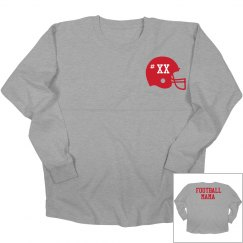Custom Number Football Mama