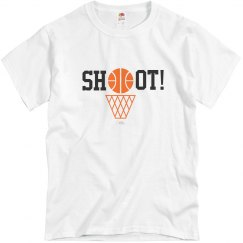Basketball Shoot T-shirt grey