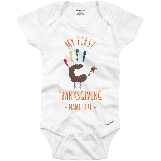 Baby/'s My First Thanksgiving Babies First Turkey Day Gerber Onesie