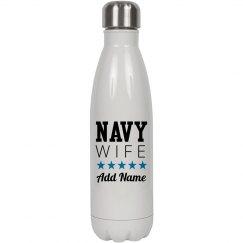 Navy Wife Custom Water Bottle