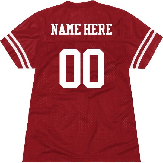 65371fa2a31 Customized Football Jersey for Women Ladies Relaxed Fit Mesh Football Jersey
