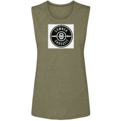SCF logo 3 ladies muscle tank