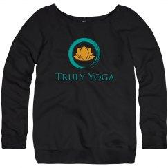 Truly Yoga Wideneck Sweatshirt (Black)