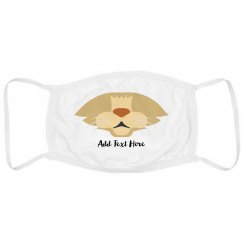 Custom Text Cute Cat Mask