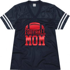 Metallic Red Football Mom Jersey