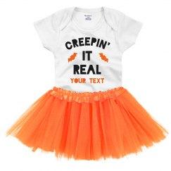 Creepin' It Real Custom Halloween Baby Onesie & Tutu