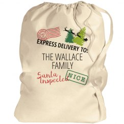 Santa Bag Custom Family Last Name