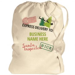 Small Business Custom Santa Bag