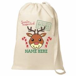 Reindeer Santa Gift Sack