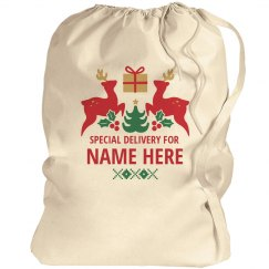 Custom Name Christmas Santa Sack