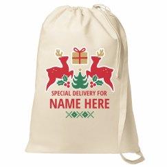 Custom Name Christmas Santa Sack