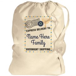 Shipping Label Custom Hanukkah Bag