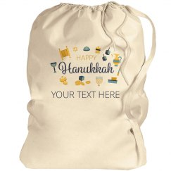 Happy Hanukkah Custom Text Bag