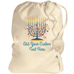 Floral Candelabra Custom Text Bag