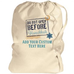 Do Not Open Hanukkah Gift Bag
