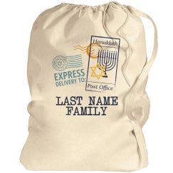 Last Name Family Hanukkah Gift bag