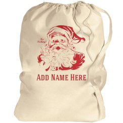 Vintage Santa Sack With Custom Name