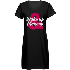 Wake Up & Makeup Sleep Shirt