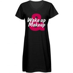 Wake Up & Makeup Sleep Shirt
