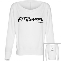 FITBARRE wide neck sweater