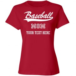 Custom Text Baseball Mom