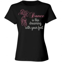 Dance Tee (Rhinestones)