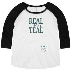 Ladies Curvy Plus Size Raglan Baseball Tee