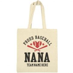 Proud Baseball Nana Tote