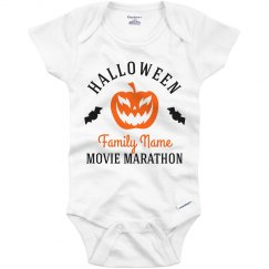 Halloween Movie Marathon Baby Onesie